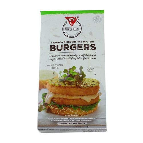 Fry's Quinoa and Brown Rice Protein Burgers (4pcs/pack)(vegan)