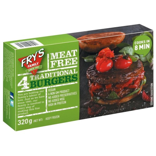Fry's Traditional Burgers (4pcs/pack)(vegan)