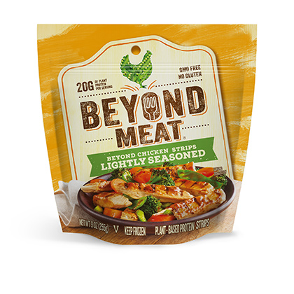 Beyond Chicken Lightly Seasoned Strips (9oz/pack)(vegan)