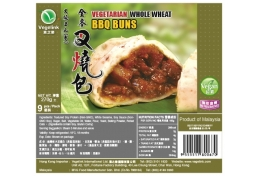 Vegelink Whole Wheat Mini Char Siu Buns (9pcs/pack)(vegan)